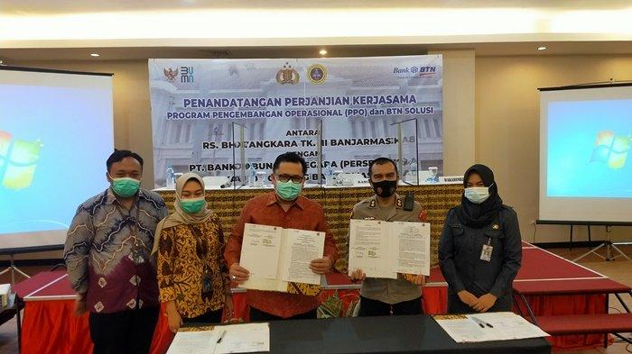 BTN Banjarmasin dengan RS Bhayangkara Lakukan Kerja Sama PPO dan BTN Solusi