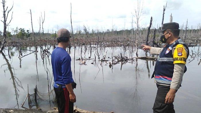 Serangan Buaya Kalsel, Bhabinkamtibmas Polsek Kelumpang Selatan Kembali Ingatkan Petambak