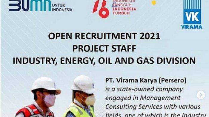Lowongan Kerja Perusahaan BUMN PT Virama Karya, Teknisi Utama Hingga Manajer Proyek