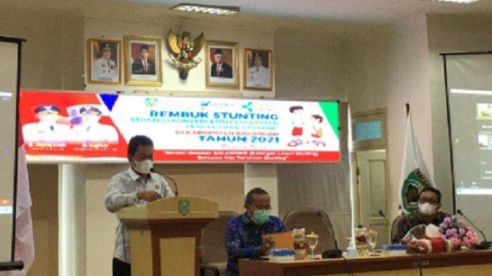Resmi Buka Gerakan Balanting, Bupati Abdul Hadi : Pemkab Balangan Komitmen Turunkan Angka Stunting
