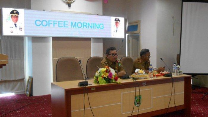 Hari Pertama Kerja Setelah Libur Lebaran, Bupati H Ansharuddin Pimpin Coffe Morning