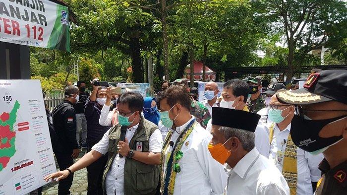 Menteri Pertanian Kunjungi Kabupaten Banjar, Bantu 10 Truk Sembako dan Benih Padi Petani
