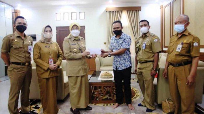 Giliran Penderita Kanker Mulut Dibantu Yayasan Dompet Sedekah Kabupaten Batola