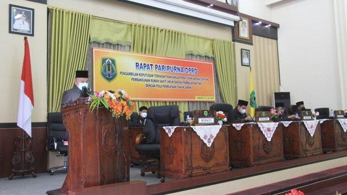 Anggota DPRD Kabupaten HSU Setujui Raperda tentang Pembangunan Rumah Sakit