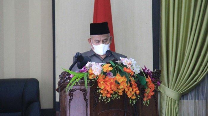 Bupati Abdul Wahid Sampaikan Pengelolaan Pendapatan dan Belanja Daerah di DPRD HSU