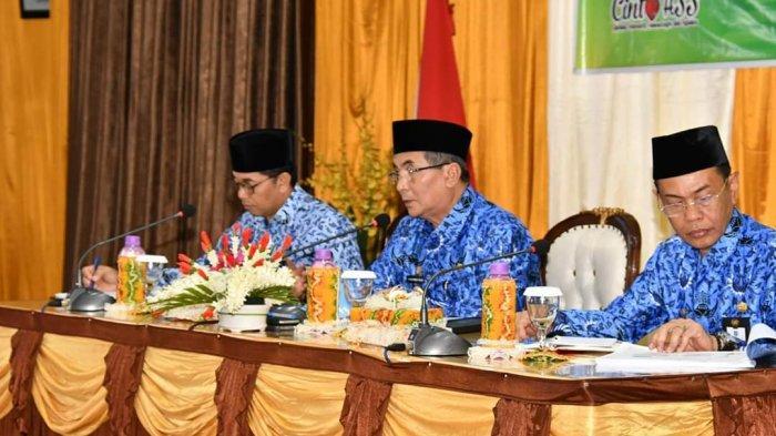 Tindaklanjuti Rakornas Indonesia Maju, Bupati HSS Gelar Rapat dengan Jajaran Pemerintahannya
