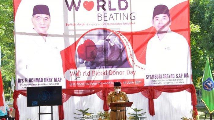 Peringati Hari Donor Darah Sedunia, PMI Kabupaten HSS Luncurkan Aplikasi Si Berkah