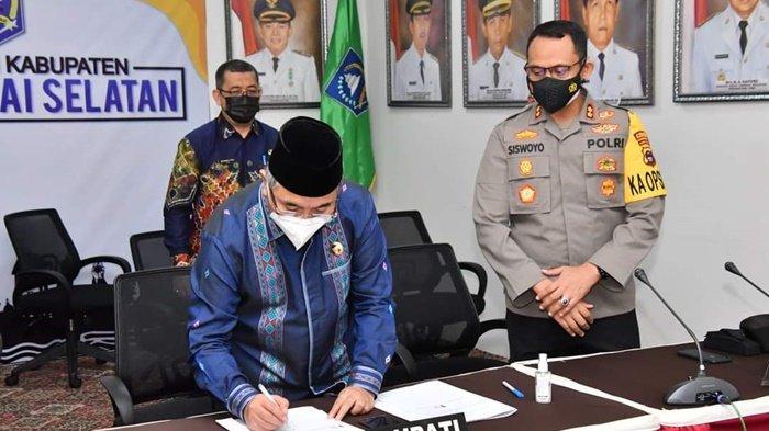 Pemkab HSS Tandatangani MoU Rekrutmen Bintara Polri, Siapkan Dana Hibah Rp 2 Miliar