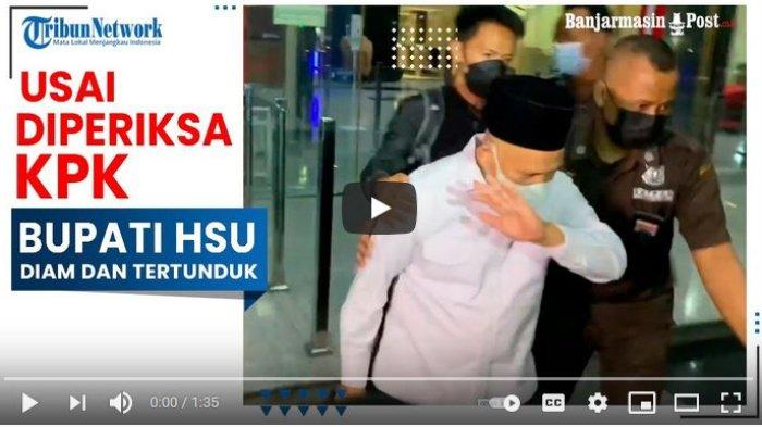 Bupati HSU Abdul Wahid HK usai diperiksa KPK.
