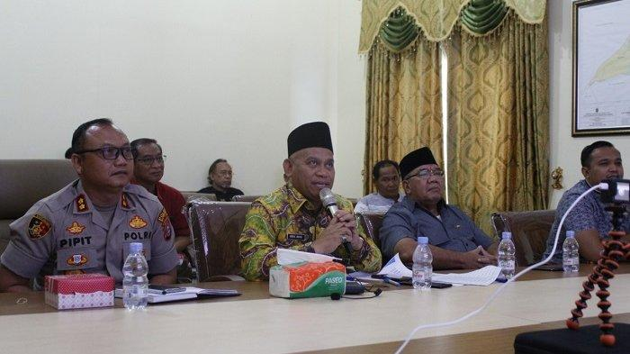 Teleconference dengan Gubernur Kalsel, Bupati Wahid Sampaikan Kondisi hingga Pencegahan Corona