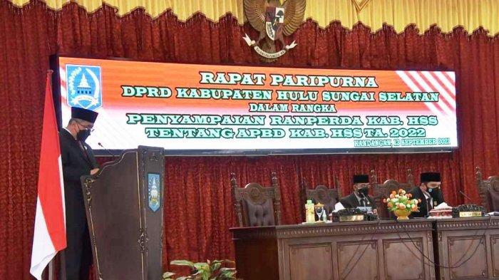 Bupati HSS Sampaikan Nota Keuangan APBD Tahun 2022