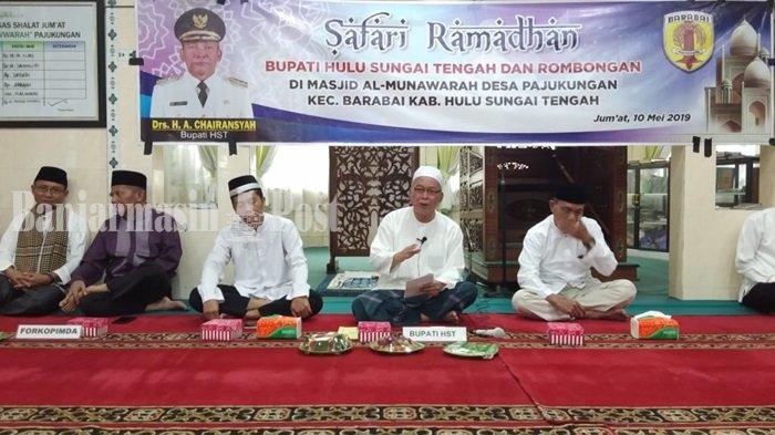 Ceramah Terakhir Bulan Ramadhan di Mushala Pemkab HST, Ini Kesan Bupati Chairansyah