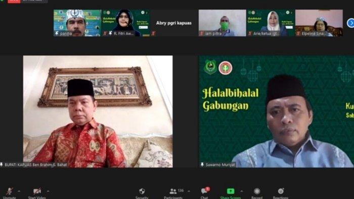 Halal Bihalal Secara Virtual Diikuti Bupati Kapuas Bersama Para Pendidik