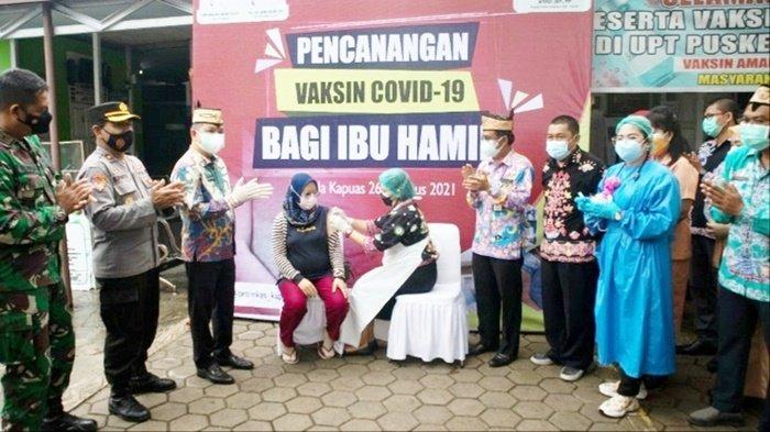 Pencanangan Vaksin Covid-19 Bagi Ibu Hamil di Kabupaten Kapuas