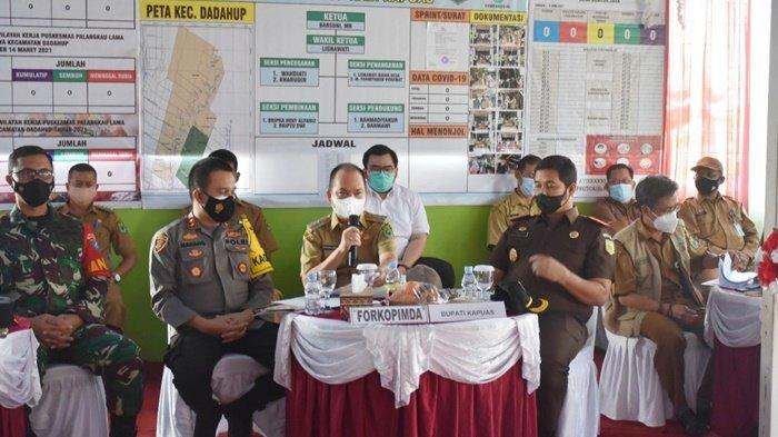 Bupati Kapuas Ben Brahim S Bahat Ikuti Video Conference Bersama Wakapolri