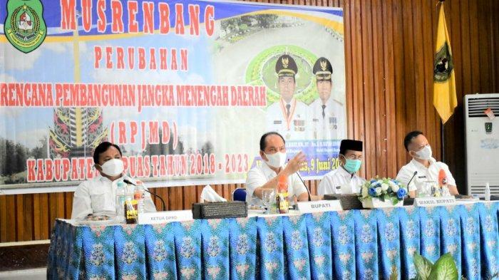 Bupati Kapuas Pimpin Musrenbang Perubahan RPJMD Kabupaten Tahun 2018-2023