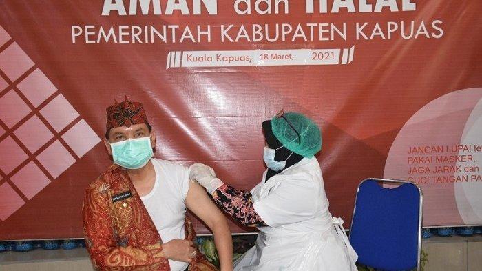 Sukseskan Program Vaksinasi bagi Lansia, Bupati Kapuas Minta Jajarannya Jemput Bola