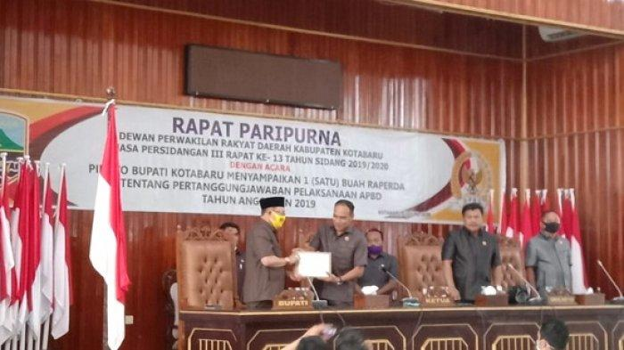 Paripurnakan Pertanggungjawaban APBD 2019, DPRD Kotabaru Tetap Bahas Walaupun Raih WTP 5 Kali