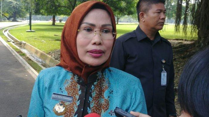 2 Kali Divaksin Bupati Ratu Tatu Tetap Saja Positif Covid-19, Tak Muncul saat Kunjungan Jokowi