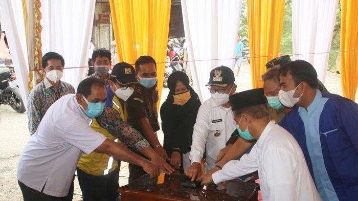 Mulai Dibangun, Siring Dekat Pasar Tanjung Kabupaten Tabalong