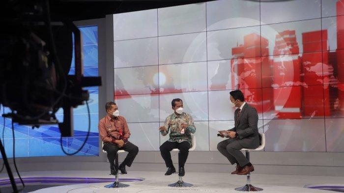 Bupati Tala HM Sukamta memaparkan presentasinya pada Program Indonesia Visionary Leader (IVL) Season VII tahun 2021 di Jakarta, Jumat kemarin.