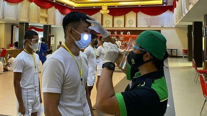 Sebanyak 146 Calon Siswa Bintara Polri Jalani Pemeriksaan Kesehatan di Polda Kalsel