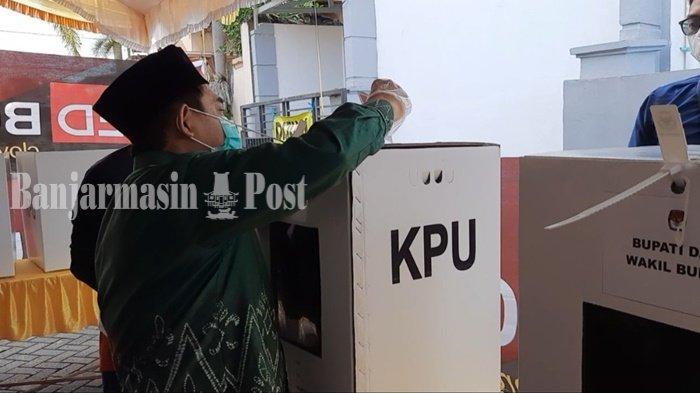 Pilkada Banjarmasin 2020, Calon Wakil Wali Kota Arifin Noor Coblos untuk Pilbup Banjar