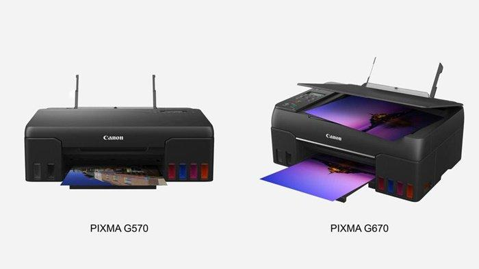 Canon PIXMA G570 dan G670, Printer Ink Tank 6 Warna untuk Cetak Foto Berkualitas dan Efisien