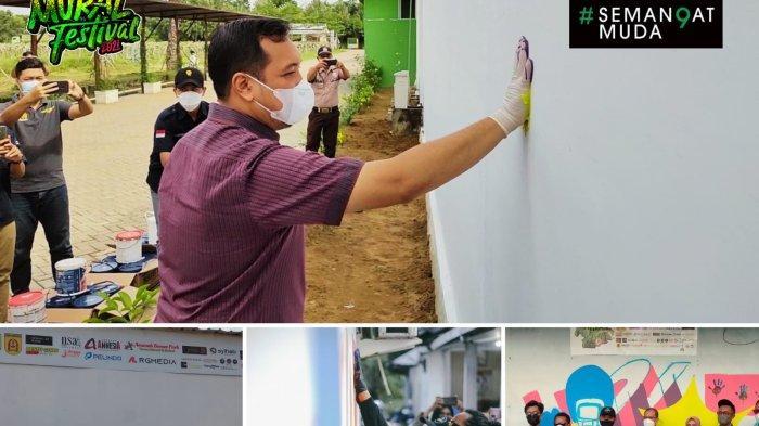 Cap Tangan Wali Kota Banjarbaru Tandai Banjar Mural Festival