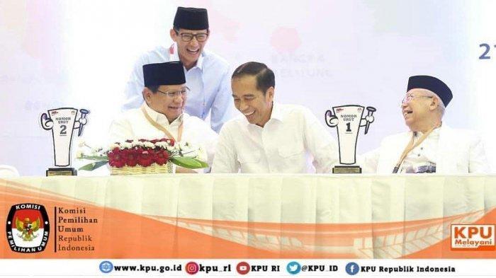 Bandingkan Foto Jokowi-Maruf Amin dan Prabowo-Sandiaga Uno Saat Jenguk Ustadz Arifin Ilham