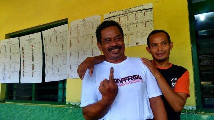 Gaya Nurhadi Capres Nomor 10 Mencoblos di Pemilu 2019, Bukan Telunjuk Dicelup ke Tinta
