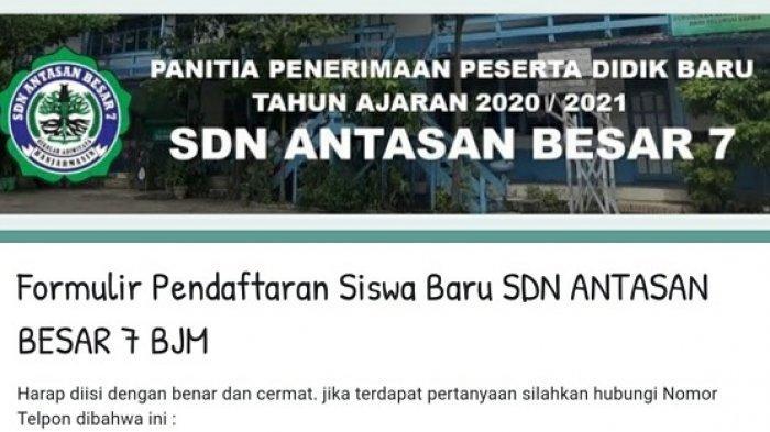 Disdik Banjarmasin Keluarkan SE PPDB 2021/2022, Sejumlah SDN Mulai Buka Pendaftaran