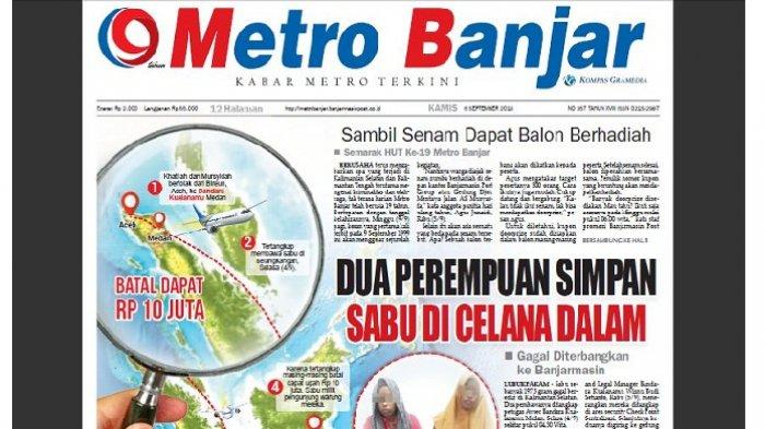Dua Perempuan Aceh Gagal Bawa Sabu ke Banjarmasin, Simpan Barang Bukti di Celana Dalam