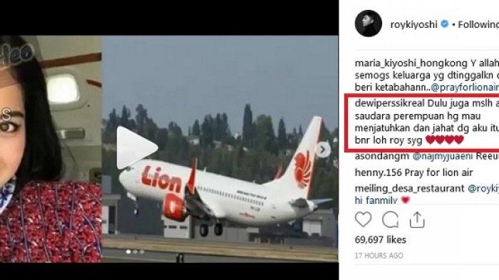 Roy Kiyoshi Unggah Video Ramalan Kecelakaan Lion Air JT610, Dewi Perssik Sindir Rosa Meldianti?