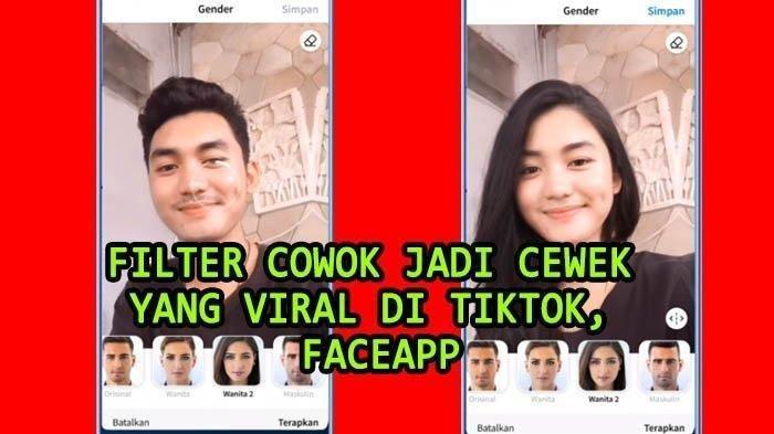 Cara Edit Video Filter Cowok Jadi Cewek yang Viral di TikTok, Pakai Aplikasi FaceApp.
