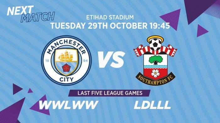 Link Live Streaming Mola TV Manchester City vs Southampton Carabao Cup Malam Ini, Pembantaian?