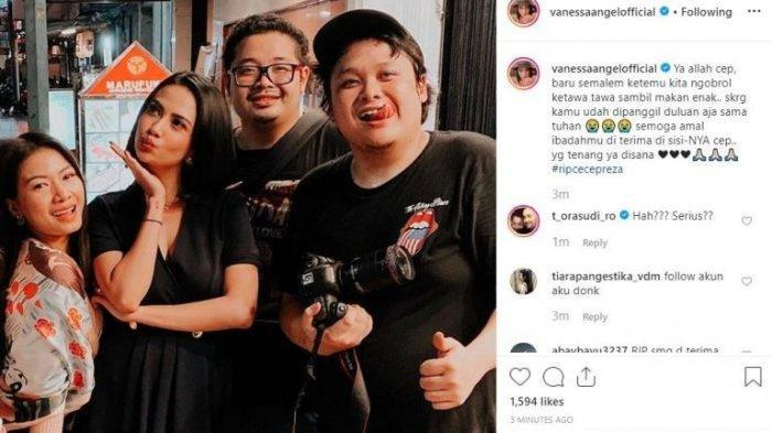 Tangis Istri Cecep Reza Ditenangkan Marshanda, Vanessa Angel Ucap Ini Saat Bombom Meninggal Dunia