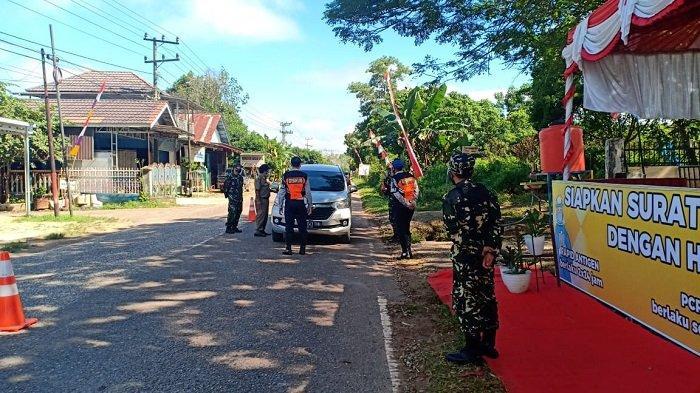 Melintas di Pos Cek Poin di Batas Tabalong dan Kalteng, Satu Mobil Pemudik Diminta Putar Balik