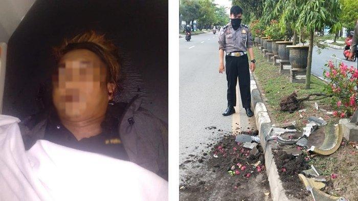 Kecelakaan Tunggal di Banjarmasin, Pria Ini Tewas Tabrak Pot Bunga di Median Brigjen Hasan Basri