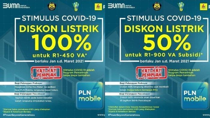 CEK via www.pln.co.id atau Aplikasi PLN Mobil, untuk Raih Token Listrik Gratis PLN Fabruari 2021.