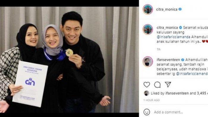 Penampilan Citra Monica Istri Ifan Seventeen Curi Perhatian, Usai Resmi Menikah Kini Pilih Berhijab
