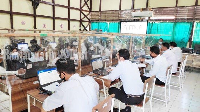 CPNS Kalsel 2021, Tes PPPK Guru Berlangsung di SMKN 1 Amuntai Kabupaten HSU