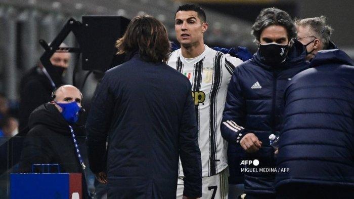 Tahu Ronaldo Marah saat Diganti di Laga Inter vs Juventus, Pirlo Bersikap Tegas : Semua Pemain Sama