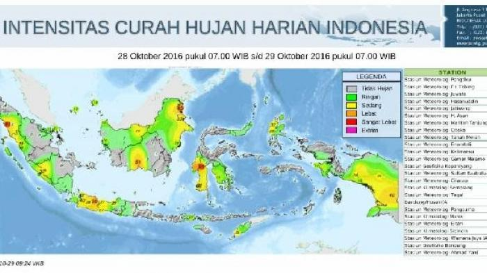 Prakiraan Cuaca Kalsel: 11 Daerah Cerah Berawan, 2 Daerah Waspada Hujan Lebat Disertai Petir