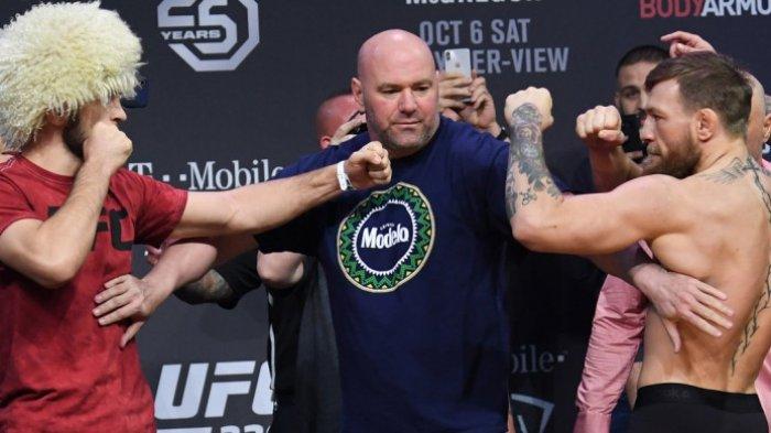 Khabib Nurmagomedov Kalahkan Conor McGregor di Laga UFC 229, Sempat Ribut Pasca Laga