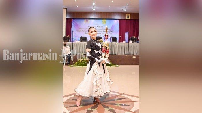 Cinta Dinda Kajoltriana Raih Juara Umum di Kejurkot Dancesport Banjarmasin