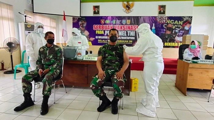 Personel Kodim 1006 Martapura Mulai Menjalani Suntik Vaksin Covid-19, Dandim Dapat Giliran Pertama