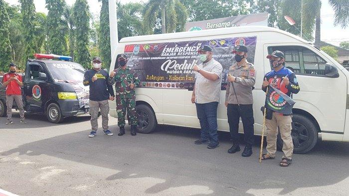 Relawan Emergency Banjar Response Dilepas Dandim dan Kapolres Bertolak ke Kalteng