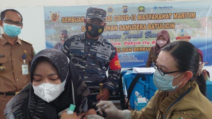 TNI AL Kotabaru Tanbu Kembali Sasar Warga Maritim Untuk Vaksinasi Covid-19