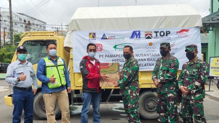 Dapur Umum Kodim 1007 Banjarmasin Terima Bantuan untuk Korban Banjir